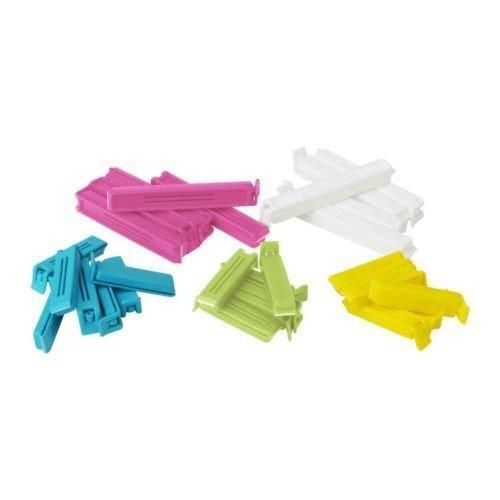 Joint BEVARA Lot de 30 clips assortis, de tailles variées, tailles : 20 pièces - 6 cm de long et 10 Pièces de 11 cm de long. congélateur-Lavable au lave-vaisselle. lavages : plastique polypropylène.
