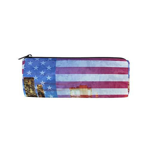 Ahomy Federmäppchen, amerikanische Flagge, New York City, Stifttasche, Studenten, Schreibwaren, Aufbewahrungstasche, Make-up-Tasche für Damen (Party Taschen Party City)