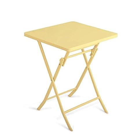 Home Cinema Conforama - Heruai Table pliante carrée en métal Table