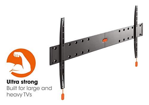 Vogel's BASE 05 L Ultrastarke TV-Wandhalterung für besonders größe (102-203 cm, 40-80 Zoll) oder schwere (max. 70 kg) Fernseher, starr, VESA max. 800 x 400, schwarz (Zoll Tv 80 Smart Sharp)