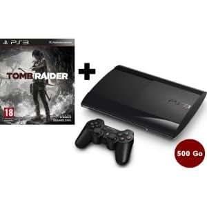 CONSOLE PS3 500 GO SLIM NOIRE + TOMB RAIDER