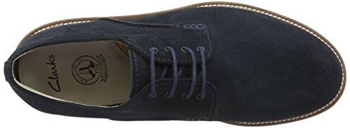 Clarks Arton Walk, Derbies à lacets homme Bleu (Navy Suede)