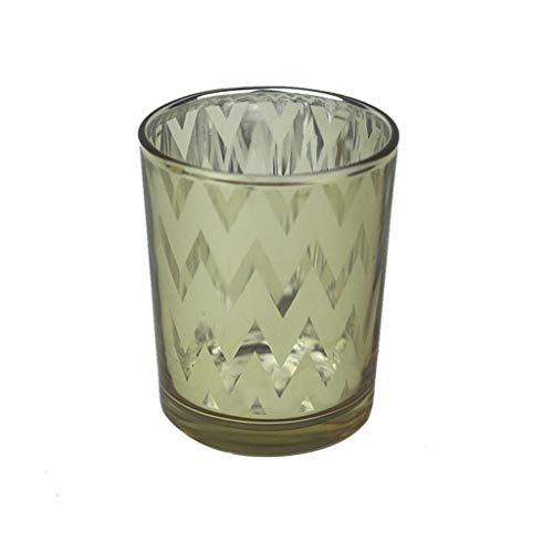 Wawer Quecksilber Glas Votiv Teelichthalter Kerzenhalter Windlicht Kerzenständer Tischdekoration für Hochzeiten, Partys und Wohnkultur (F)