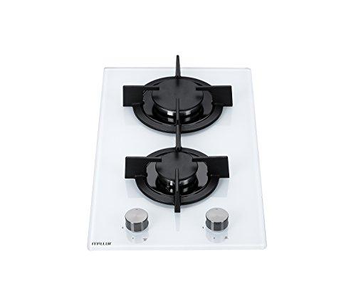 Millar gh3020pw placas de horno de cristal templado con 2quemadores de Gas...