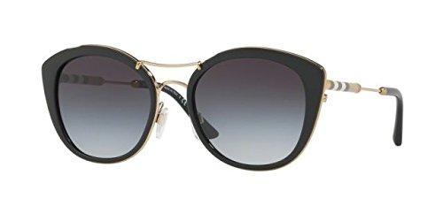Burberry 0be4251q 30018g, occhiali da sole donna, nero (black/gradient), 53