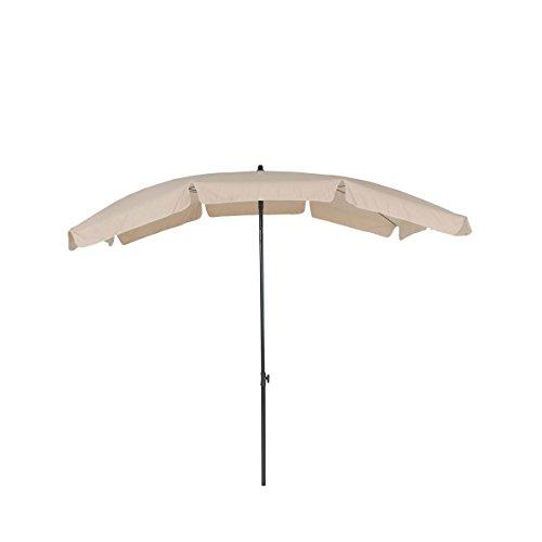 greemotion Sonnenschirm mit UV-Schutz - Balkonschirm in Beige-Grau - Gartenschirm knickbar - Terrassenschirm rechteckig - Outdoor-Schirm für Balkon, Terrasse & Garten