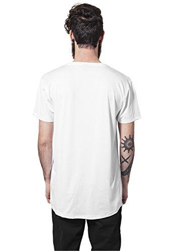 Urban Classics Herren Shaped Neopren Long Tee T-Shirt White