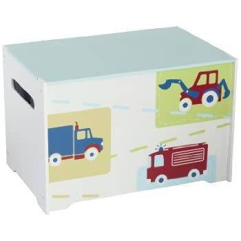 Vehicles Kids Toy Box   Childrens Bedroom Storage Chest With Bench Lid By  HelloHome