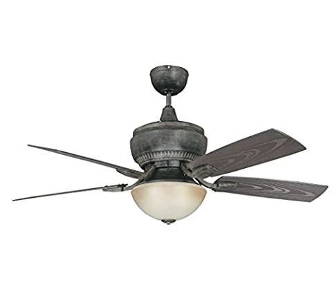 Concord 52BW5AP Ceiling Fans with Amber Glass Shades, Aged Pecan Finish by Concord Fans