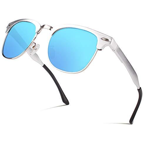 CGID Al-Mg Legierung Stil Polarisierte Sonnenbrillen UV400, Sonnen brillen mit Metall nieten für Männer Frauen GD58