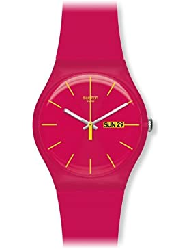 Swatch Damen-Armbanduhr Rubine Rebel Analog Quarz Plastik SUOR704