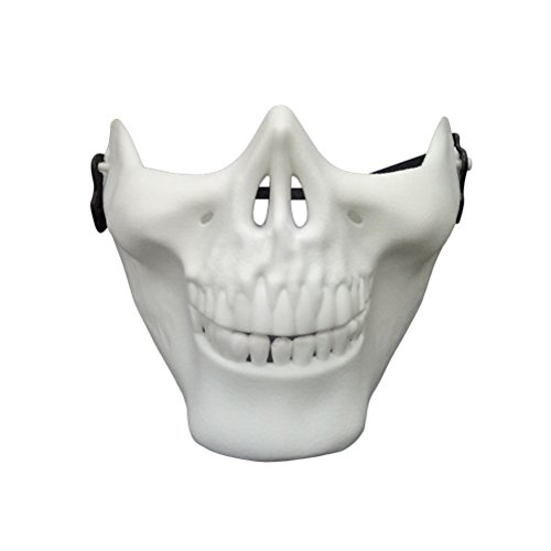 Tinksky Schädel Skelett Halbmaske Halloween Maske für Cosplay Maskerade-Party