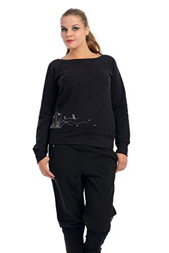 Femmes De Épaule Pull / Hors épaule Fashion Top avec vent fée de 3Elfen - Femme Gris