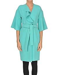 Pinko Cappotto Donna MCGLCSC000005035E Poliestere Azzurro 4e85bc4a43d