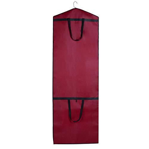 STEVOY Atmungsaktiver Kleidersack 180 cm Länge, Schutzhülle für Brautkleider / Abendkleider / Anzüge / Mäntel - Langer Reissverschluss