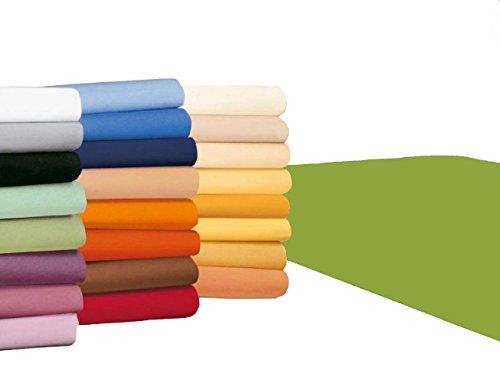 badtex24 Spannbettlaken 90 100 x 200 Spannbetttuch Bettlaken Jersey 100% Baumwolle 20 Farben Apfelgrün 90x190-100x200cm