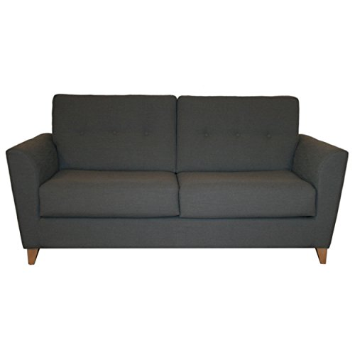 CANAPES TISSUS Midnight Canapé Convertible, Tissu, Anthracite, 180 x 100 x 92 cm