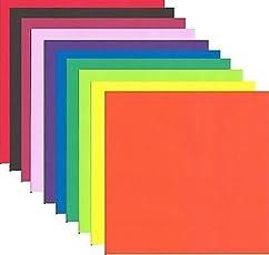 Paraspapermart Origami Paper Big Size, 13x13cm (10 Fluorescent Colour) - Pack of 100