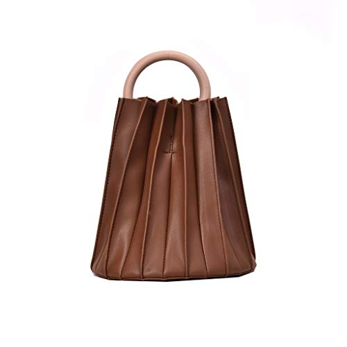 Mitlfuny handbemalte Ledertasche, Schultertasche, Geschenk, Handgefertigte Tasche,Frauen Retro Pure Color Leder Bouffant Einkaufstasche Handtasche Messenger Bag Strandtasche