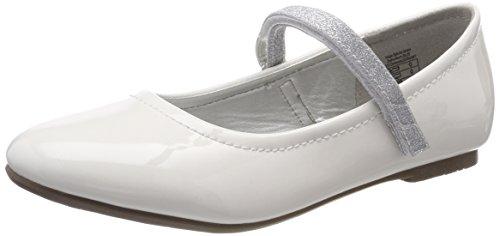 Indigo Mädchen 424 080 Geschlossene Ballerinas, Weiß (White Patent), 36 EU