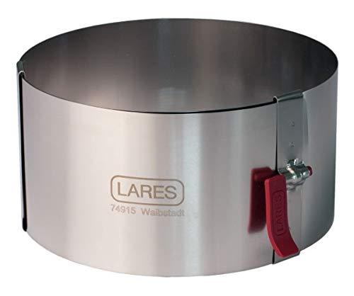 Lares Tortenring mit Klemmhebel klein Ø ca. 10 - 18 cm (10 cm Höhe)