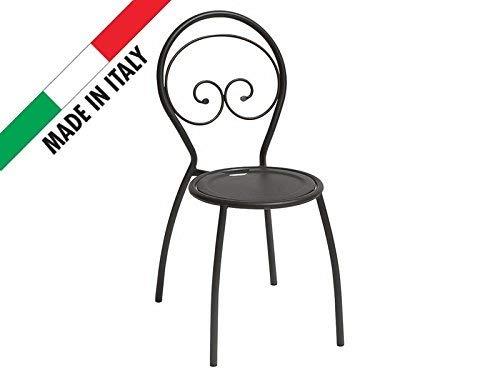 Stuhl stapelbar aus Metall Eisen-Outdoor Garten Terrasse Patio Bar Restauran -