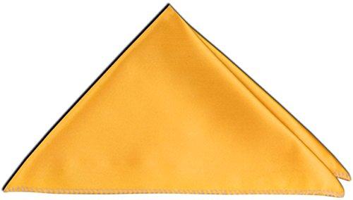 PABLO CASSINI Einstecktuch Edel Satin 27 x 27 cm Kavalierstuch Business Hochzeit- Mengenrabatt - 12 Farben zur Auswahl (Menge: 10 Stück, Gold Gelb)