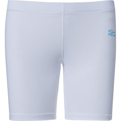 Sportkind Mädchen & Damen Fitness / Volleyball / Training Shorts, weiss, Gr. 152