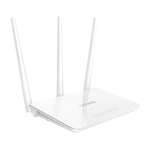 Tenda F3 N300 Router Wi-Fi 300 Mbps a 2.4 GHz, 4 10/100M Porti , 3 5dBi Antenne, Wireless On/Off, Power On/Off, WPS