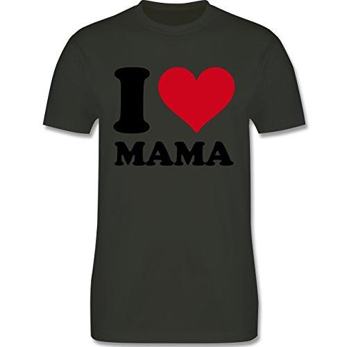I love - I Love Mama - Herren Premium T-Shirt Army Grün