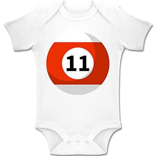 12 Elf 18 Kostüm Monate - Shirtracer Karneval und Fasching Baby - Billardkugel 11 Kostüm - 12-18 Monate - Weiß - BZ10 - Baby Body Kurzarm Jungen Mädchen