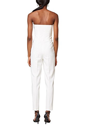ESPRIT Collection Damen Jumpsuit 038EO1L001, Weiß (Off White 110), 34 - 2