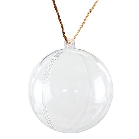 aerwo transparent befüllbar Ball Kugel Weihnachten Ornament Party Dekoration, plastik, 10 Stück, 70mm