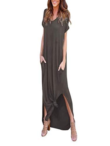 Mode Frauen Sommer Pure Slash Neck Bow Abendkleid Bodenlangen Maxi Kleid