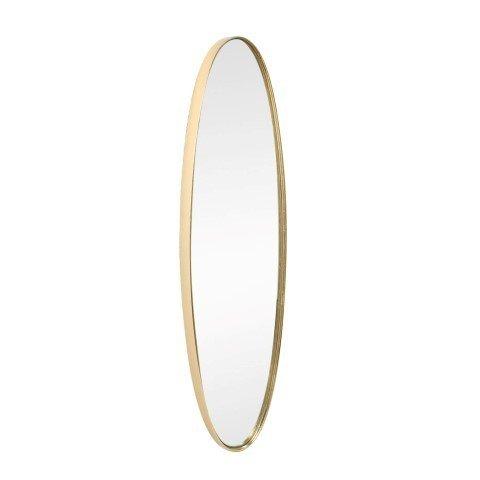 Espejo Pared Decorativo Dorado Ovalado. Cristal. 77.5 x 21 x 4 cm.
