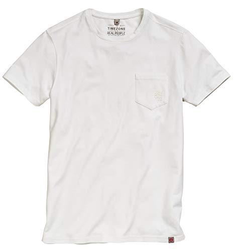 Timezone Herren T-Shirt Basic 22-10072 Pure White L -
