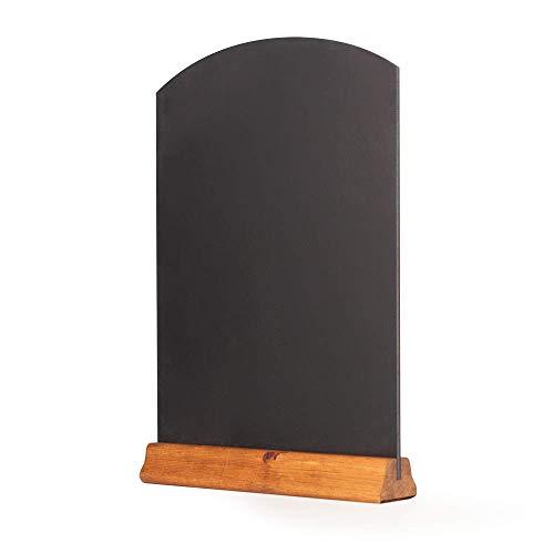Chalkboards UK Tableau Noir avec Socle en Bois pour Table, chêne foncé, (A3) - 42 x 30 x 4 cm