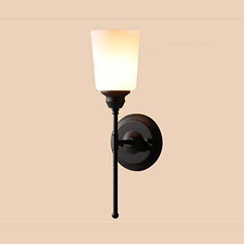 Applique Fer art moderne simple couloir salle de bains salle de bains chambre à coucher simple entrée lampe de chevet miroir lumière