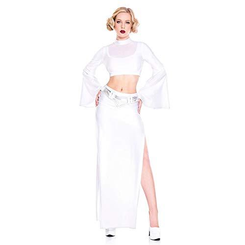 Offizielle Damen Star Wars Cosplay Kostüm Halloween Weihnachten Kostüm Requisiten Adult Party Dress,White,M