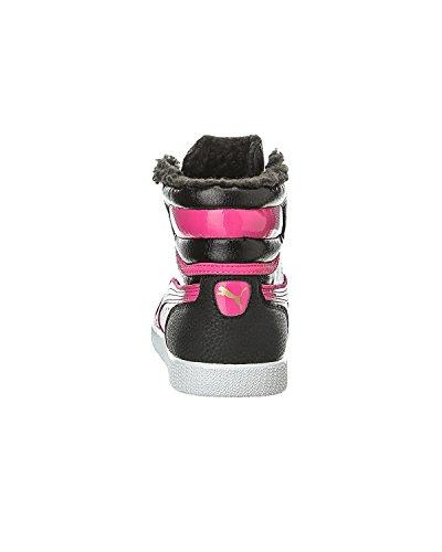 Puma First Round Fur Jr, Baskets mode fille Black/Fuchsia