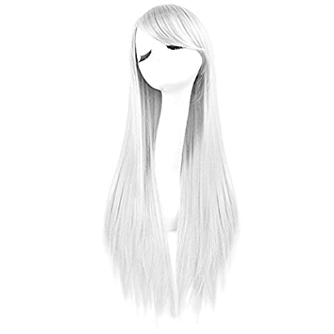 Merssavo Womens Ladies Girls Long Straight Wig Cosplay Costume Fancy Dress Party Hair Wigs Hairpieces