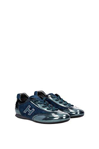 HXW057016876TH33CD Hogan Sneakers Femme Chamois Vert Vert