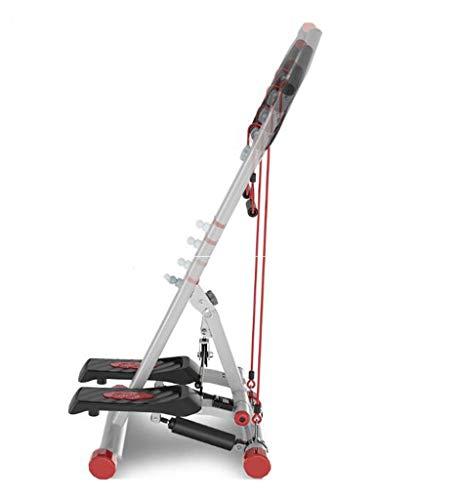 FGSJEJ Laufband Gewichtsverlust Maschine Treppe Stepper Übung Stepper Maschine Fitness Mini Stepper Treppe Stepper Trainingsgeräte mit Widerstand Bands (Color : White, Size : One Size) (Maschine Laufband)