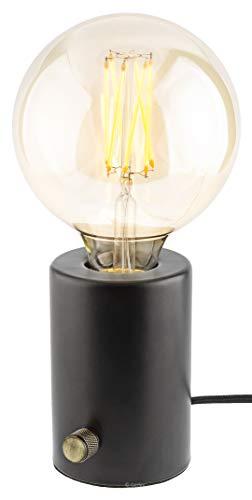 Gadgy ® Tischlampe Dimmbar | Schwarz Retro Vintage Modern und Industrial Design | Mit LED Edison Glühbirne - Lampe Moderne Tischlampe