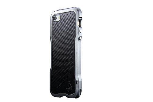 iPhone 5 / 5S / SE Aluminium Rahmen,[ Poliert aus CNC Luftfahrt Alu,Robustes Design] Metall Bumper Stoßfest Hülle Gratis Display Schutzglas Rückseite Folie für iPhone 5 / 5S / SE 4,0