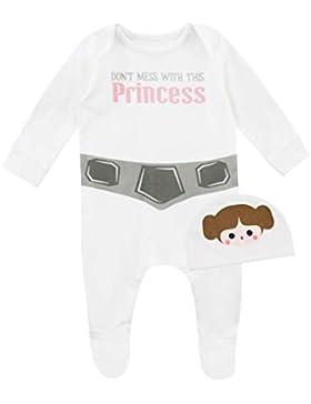 Star Wars Baby Mädchen Prinzessin Leia Schlafstrampler und Mütze
