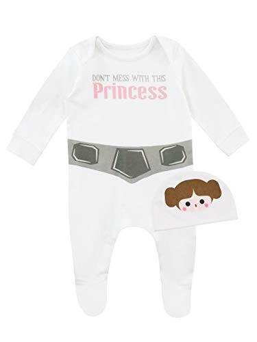 Star Wars Pijama Entera Gorro Niñas Bebés Princesa
