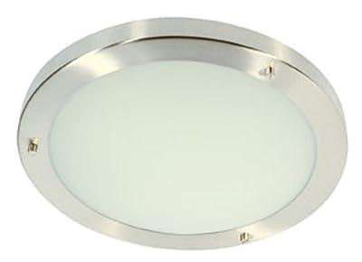 Rondo Badezimmer-Deckenleuchte, poliertes Chromfinish, G9-Glühbirne von Oaks Lighting bei Lampenhans.de