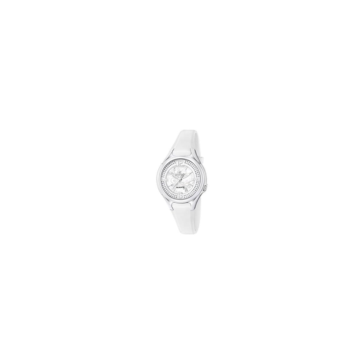 31F6dyvAtnL. SS1200  - Calypso-Reloj de Cuarzo para Mujer con Correa de plástico de Plata Esfera analógica Pantalla y Blanco k5575/1