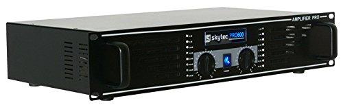 Skytec SKY-600B Haus Verkabelt Schwarz - Audioverstärker (0,5%, 98 dB, 1200 W, 600 W, 20 - 20000 Hz, 170-240)